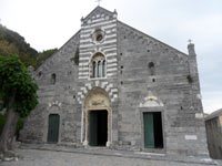 Portovenere, Church of San Lorenzo - Front view<br>
