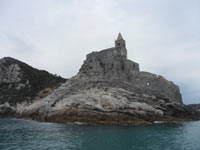 Portovenere, Church of San Pietro - The first thing that tourists see from a boat<br>