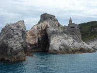 Portovenere - Church of San Pietro and the cave<br>