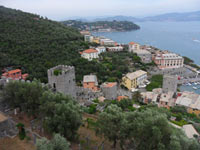 Portovenere, Doria Castle - Panoramic View<br>