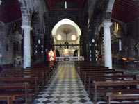Portovenere, Church of San Lorenzo - Inside view<br>