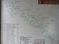 Portovenere - Map hiking paths<br>