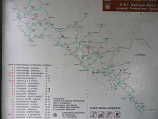 Portovenere - Map hiking paths<br>4320x3240, 1.05 MB