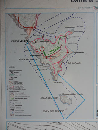 Palmaria Island - Map of the island<br>3240x4320, 1.10 MB