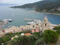Portovenere - Panoramic view from the Castle Doria<br>