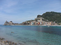 Portovenere - Panoramic view from the island of Palmaria<br>