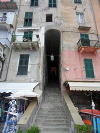 Portovenere - The tunnel from seafront to the main street<br>